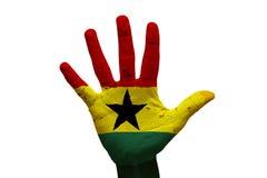 gömma i handflatan flaggan Ghana arkivfoton