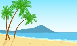 Gömma i handflatan på stranden royaltyfri illustrationer