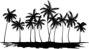 gömma i handflatan silhouettetrees Arkivfoto