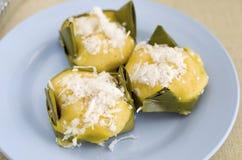 Gömma i handflatan thai sött socker för efterrätten. Royaltyfri Foto