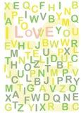 gömt älskar jag text dig Royaltyfria Bilder