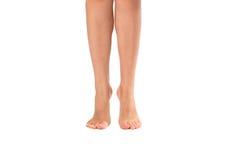 Gör bar ben av kvinnan som isoleras på vit arkivfoto