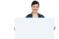 Gör bruk av detta blanka annonsbräde Arkivbilder