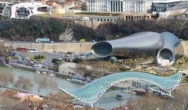 Gör degcakesoriginalen den arkitektoniska objektsikten från över arkivbild
