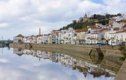 gör den blåa kusten för alcacer portugal sal setubal arkivbilder