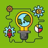 Gör den idérika idén för innovation, pengar direktanslutet royaltyfri illustrationer