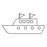 Gör den lyxiga loppdestinationen för yachten linjen tunnare royaltyfri illustrationer