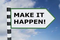 Gör det att hända! begrepp stock illustrationer