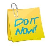 Gör det postar nu illustrationdesign Fotografering för Bildbyråer