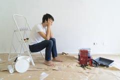 Gör det själv husrenoveringar arkivbild