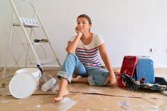 Gör det själv husrenoveringar arkivfoton