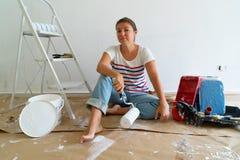 Gör det själv husrenoveringar royaltyfri fotografi