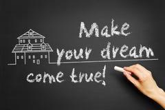 Gör din dröm att komma riktigt! royaltyfri bild