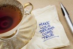 Gör dina drömmar att komma riktigt royaltyfria foton