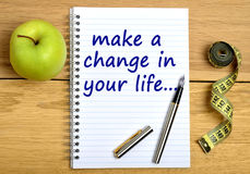Gör en ändring i ditt liv royaltyfria foton