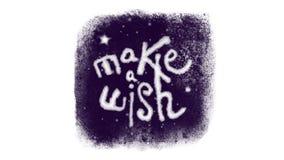 Gör en önska som märker inom ett djupfryst fönster med snö stock video