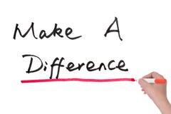 Gör en skillnad Fotografering för Bildbyråer