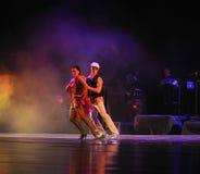 Gör en tom show av styrkadirektör-identiteten av dentango dansdramat Royaltyfri Fotografi