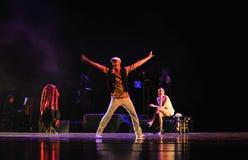 Gör en tom show av styrkadirektör-identiteten av dentango dansdramat Fotografering för Bildbyråer