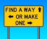 Gör en väg Arkivbild