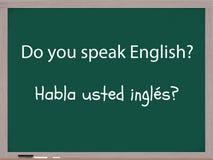 gör engelsk spanjor talar dig Royaltyfri Fotografi