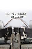 gör engelska talar dig Royaltyfri Bild