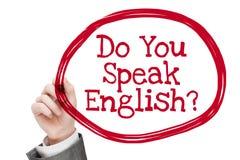 gör engelska talar dig Royaltyfri Foto