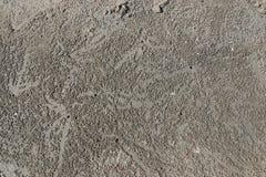 Gör ett hål i stranden fotografering för bildbyråer