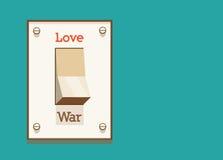 Gör förälskelse, att inte kriga! Arkivbild