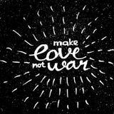 Gör förälskelse att inte kriga kalligrafi Fotografering för Bildbyråer
