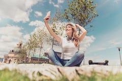 Gör främre kameraarkitektur video ferie va för appellinternet 5g Arkivbild