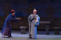 """Gör gyckel av lokalrepresentant-Shanxi Operatic""""Fu Shan till Beijing† Arkivbilder"""