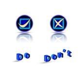 Gör inte gör symbolet med text Fotografering för Bildbyråer