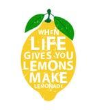 Gör lemonad - när liv ger dig citroner, Royaltyfri Fotografi