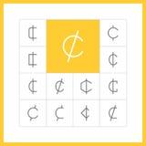 Gör linjen centtecken tunnare Vektor Illustrationer