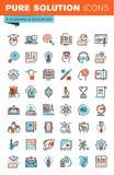 Gör linjen rengöringsduksymboler för utbildning tunnare Royaltyfria Foton