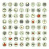 Gör linjen symboler för användargränssnitt och teknologi tunnare vektor illustrationer
