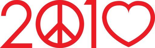 gör logoförälskelse 2010 för att inte kriga stock illustrationer
