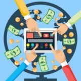 Gör pengar från internet royaltyfri illustrationer
