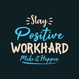 Gör positivt arbete för staget hårt det att hända vektor illustrationer