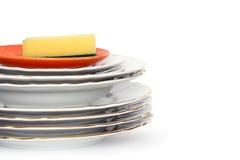 gör ren dishwaren Fotografering för Bildbyråer