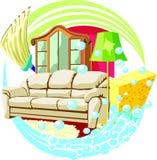 gör ren home Fotografering för Bildbyråer