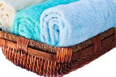 gör ren nya handdukar Arkivbilder
