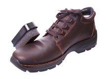 gör ren skor Fotografering för Bildbyråer
