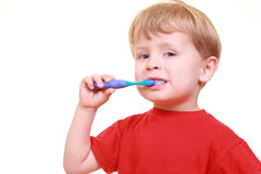 gör ren tänder Fotografering för Bildbyråer