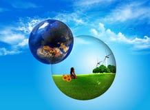 gör ren världen Fotografering för Bildbyråer