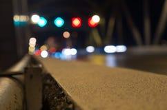 Gör suddig abstrakt bokeh av bakgrund för ljus för gatastadsnatten Royaltyfria Foton