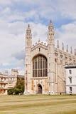 Gör till kung det högskolakapellCambridge universitetet Royaltyfri Bild