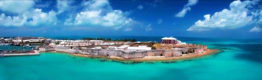 Gör till kung hamnplatsen, Bermuda Arkivfoto