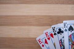 Gör till kung poker Fotografering för Bildbyråer